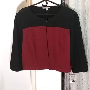 NWT Danny and Nicole Coat / Jacket 16w Black / Red